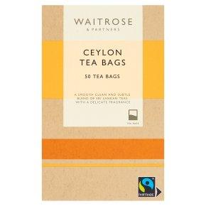 Waitrose Ceylon Tea 50 Tea Bags