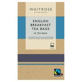 Waitrose English Breakfast 50 Tea Bags