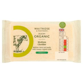 Waitrose Duchy Medium Cheddar Strength 3