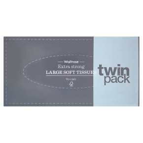 Waitrose extra strong tissues twin pack