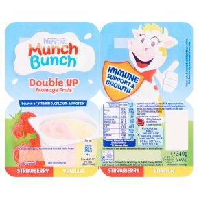 Munch Bunch DoubleUp Strawberry & Vanilla Fromage Frais