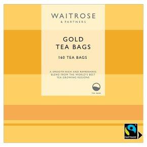 Waitrose Fairtrade 160 gold tea bags