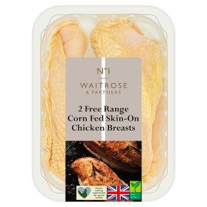 No.1 Free Range Corn Fed Skin-On Chicken Breasts