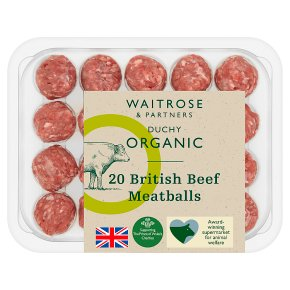 Duchy from Waitrose British beef 20 meatballs