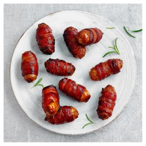 16 Duchy Organic Free Range British Pork Sausages wrapped in Bacon