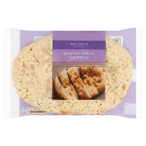Waitrose roasted garlic flatbread