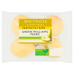 Waitrose Perfectly Ripe Green Williams Pears