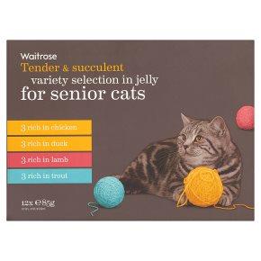 Waitrose Variety Selection in Jelly Senior Cats