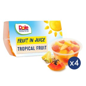 Dole fruit in juice tropical fruits