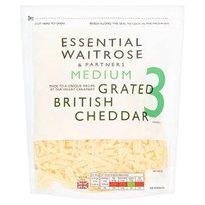 Essential Medium Grated Cheddar Strength 3