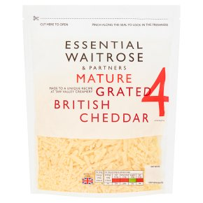 Essential Mature Grated Cheddar Strength 4