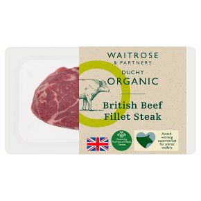 Duchy from Waitrose British beef fillet steak