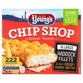 Young's 4 Chip Shop Large Haddock Fillets