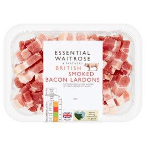 essential Waitrose British Bacon Smoked Lardons