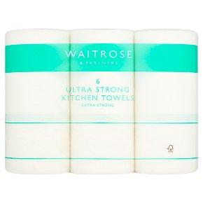 Waitrose Ultra Kitchen Towels White