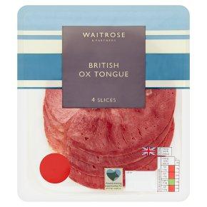 Waitrose British Ox Tongue 4 Slices