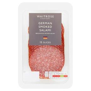 Waitrose German Smoked Salami 15 Slices