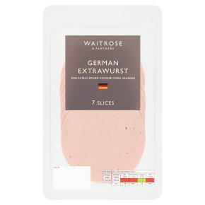 Waitrose German Extrawurst 7 Slices