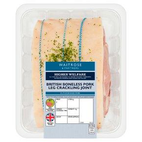 Waitrose Crackling Pork Boneless Leg Roast