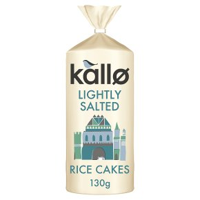 Kallo low fat rice cakes wholegrain