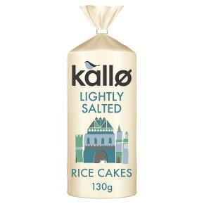 Kallo low fat rice cakes wholegrain