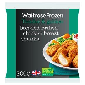 Waitrose Frozen Breaded Chicken Breast Chunks
