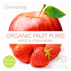 Clearspring Pureé Apple & Strawberry