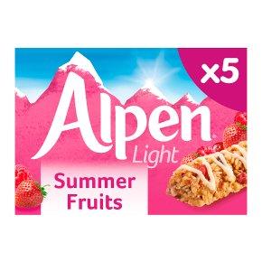 Alpen light summer fruits 5 bars