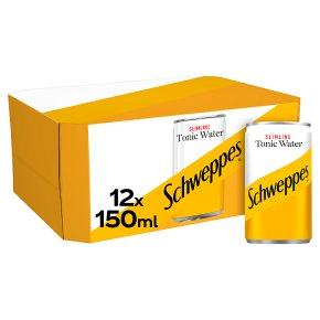 Schweppes Indian tonic water slimline