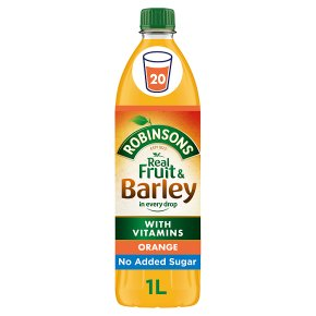 Robinsons no added sugar fruit & barley orange