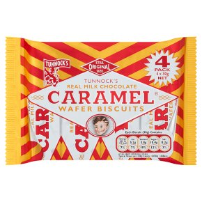 Tunnock's wafer biscuits caramel