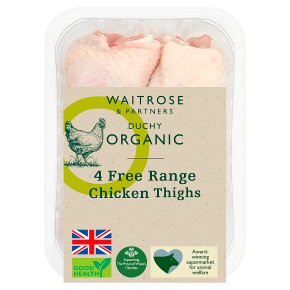 Duchy Organic 4 British Chicken Thighs