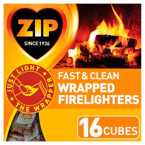 Zip energy wrapped firelighters