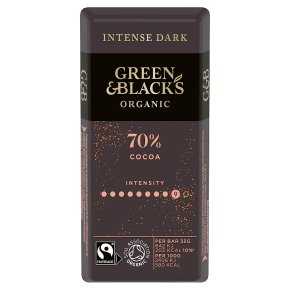 Green & Black's dark 70% chocolate