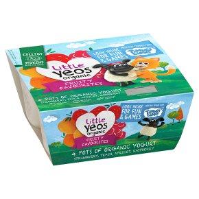 Yeo Valley Organic Little Yeos Fruity Favourites Yogurt