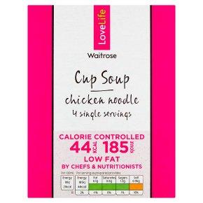 LOVE life 44 calories cup soup chicken noodle