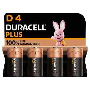 Duracell Plus D Batteries Alkaline