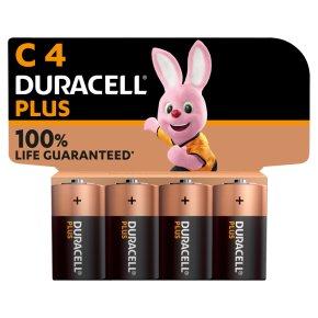Duracell Plus C Batteries Alkaline