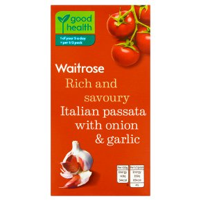 Waitrose passata with onion & garlic