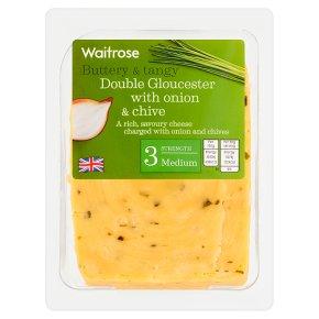 Waitrose Double Gloucester Onion & Chive Strength 3