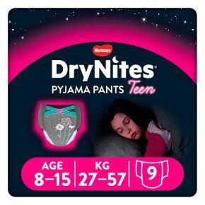 Huggies dry nites for girls 8-15years