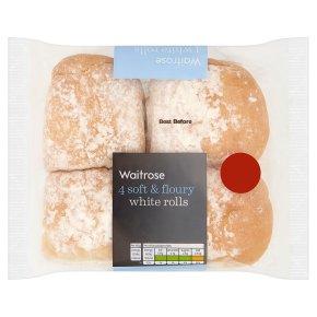 Waitrose Soft & Floury White Rolls