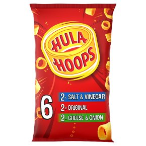 Hula Hoops original, cheese & onion & salt & vinegar
