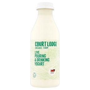 Court lodge bio pouring yogurt