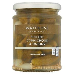 Waitrose cornichons & onions pickled