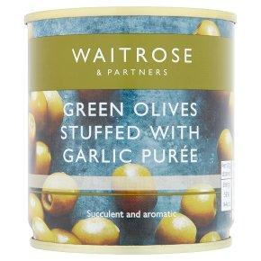 Waitrose Green Olives Garlic Purée