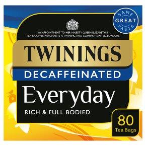 Twinings Everyday Decaffeinated Tea 80 Tea Bags