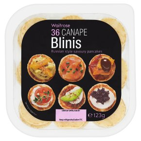 Waitrose 36 Canape Blinis