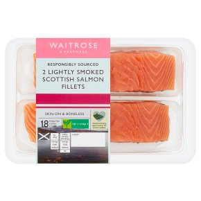 Waitrose Lightly Smoked Scottish Salmon Fillets