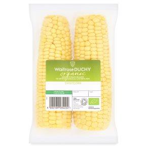 Waitrose Duchy Organic sweetcorn